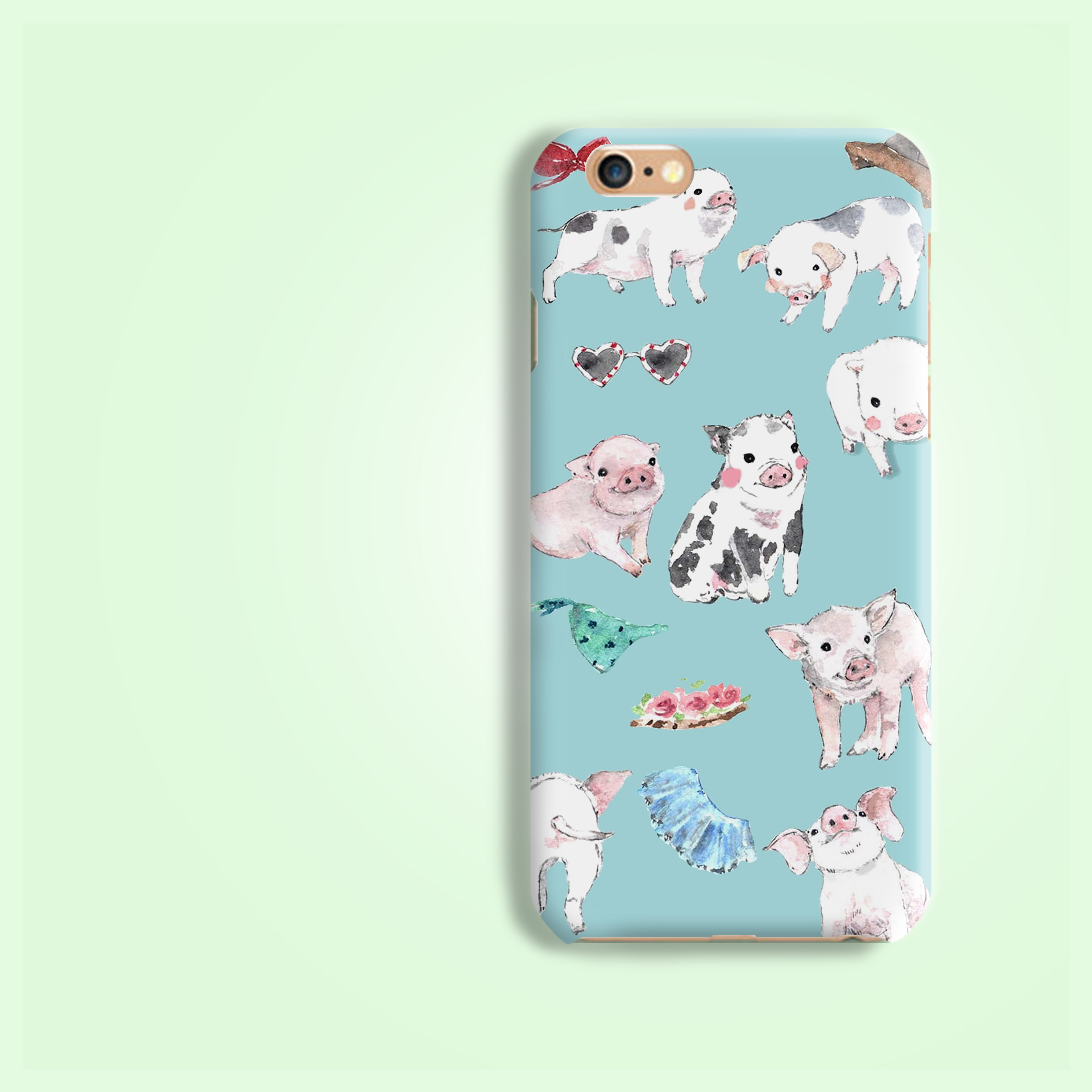 low priced c6a60 1551f Farm piggy pig all over pattern rigid hard phone case for iPhone X 8 7 6S  SE Plus Galaxy S9 S8 Plus S7 edge Note 8 Note 5 A8 2018 A7 2017 A5