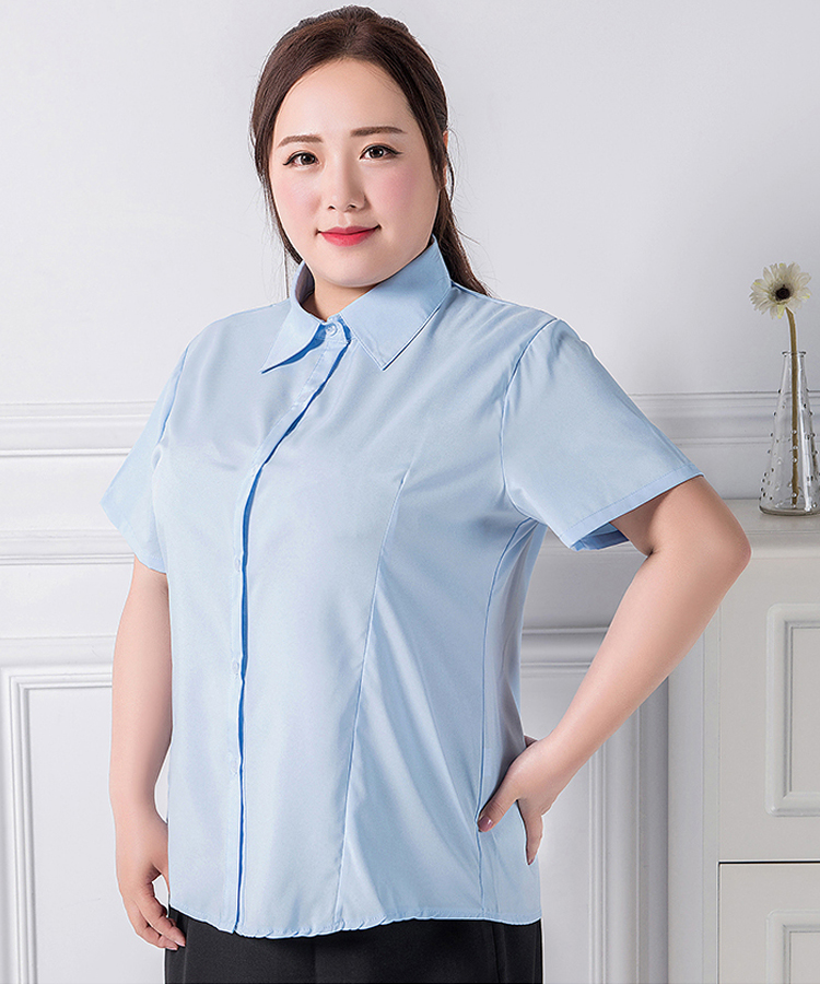 huge inventory on feet shots of how to buy Plus Size 3XL-9XL Women's Short Sleeves Chiffon Business Blouse ...