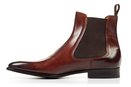 Handmade Men brown color Chelsea boots, Men ankle boots, Mens leather boots from Rangoli Collection
