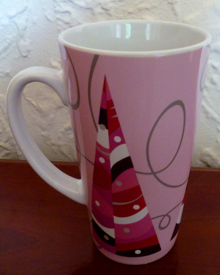 Starbucks Christmas Coffee Mugs.Starbucks Pink Christmas Tree Patio Coffee Mug From Birdsvintageemporium