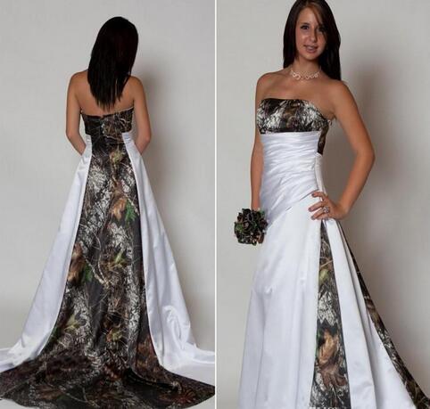 Camo Wedding Dresses.New Arrival Strapless Camo Wedding Dresses With Pleats A Line Sweep Train 2017 Bridal Gowns Wedding Dress Vestido De Novia From Misszhu Bridal