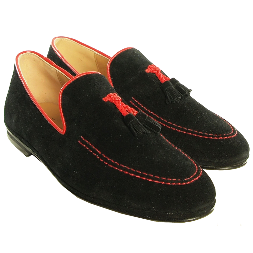 07f3762b7e3 Black Suede Loafers Italian Top Grain Calf Leather Brice Store on Storenvy