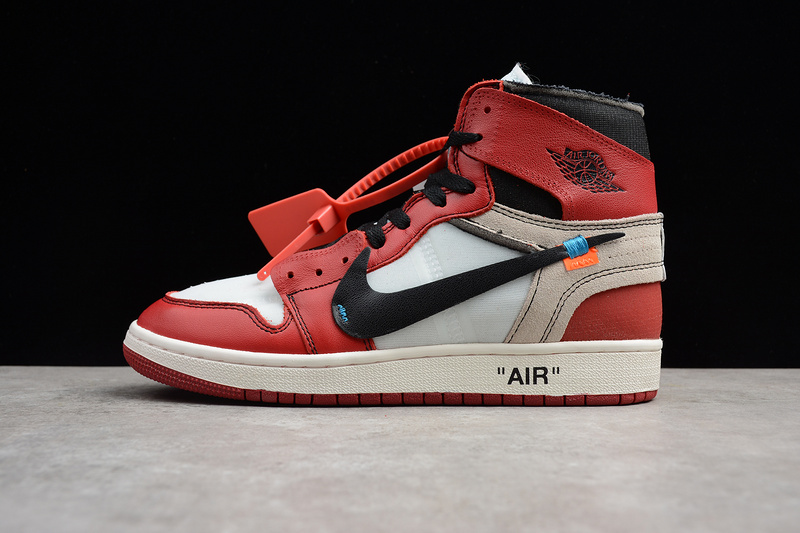 air jordan off white rosse