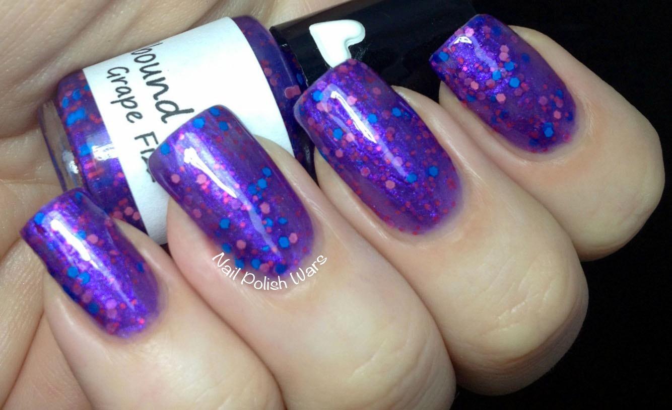 Grape Fizz Custom Purple Glitter Nail Polish Spellbound Nails