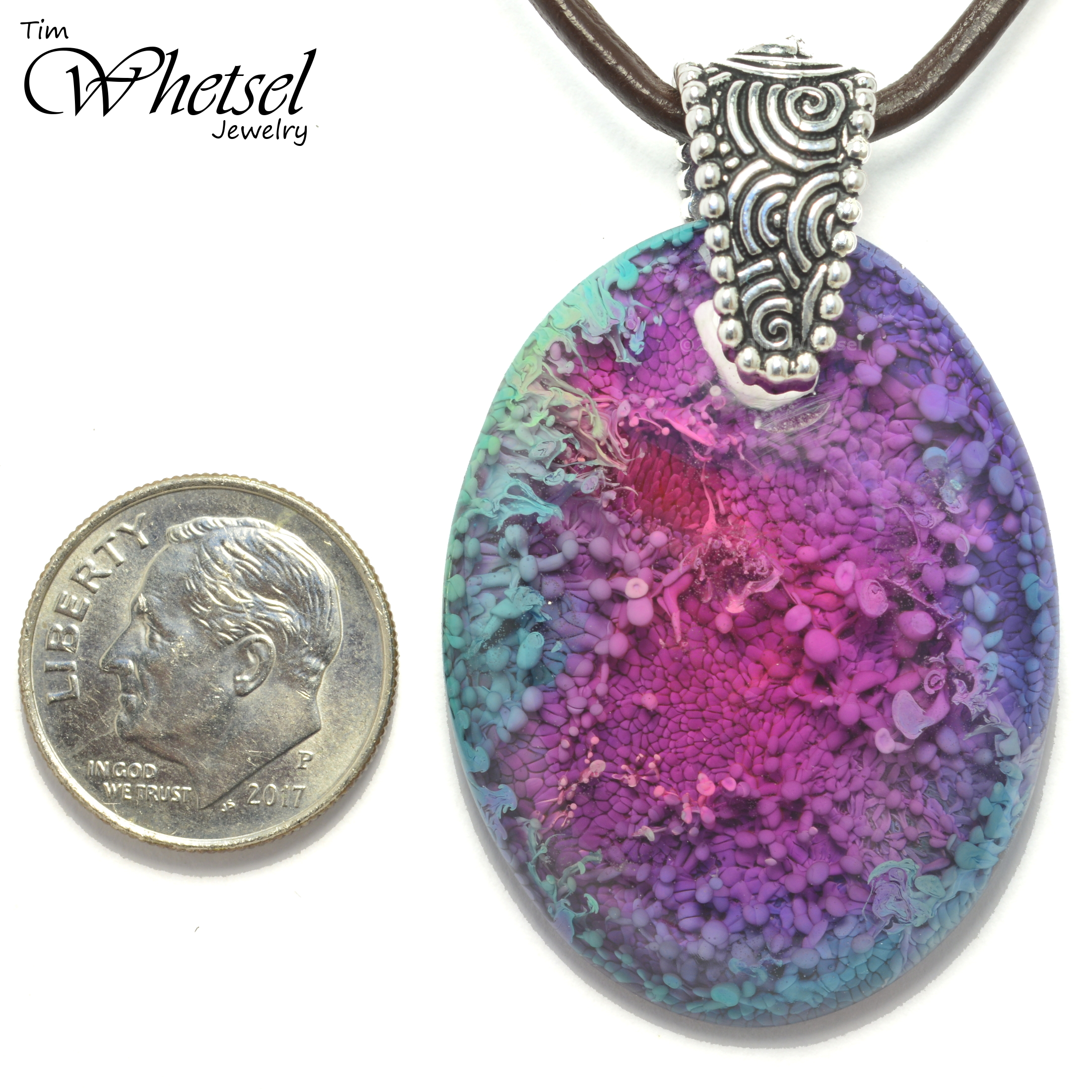 Necklace Dragon egg handcrafted pendant