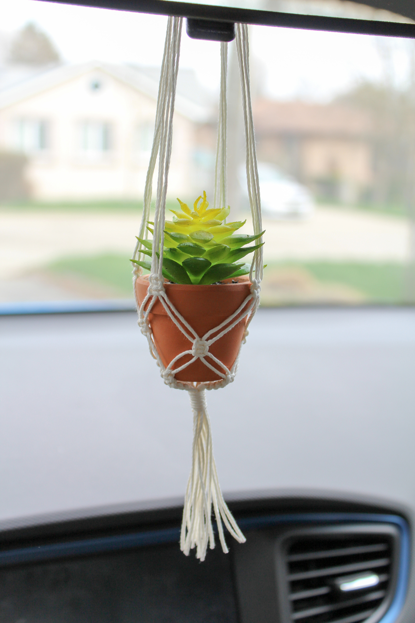 Juniper Car Rearview Mirror Macrame Plant Hanger On Storenvy