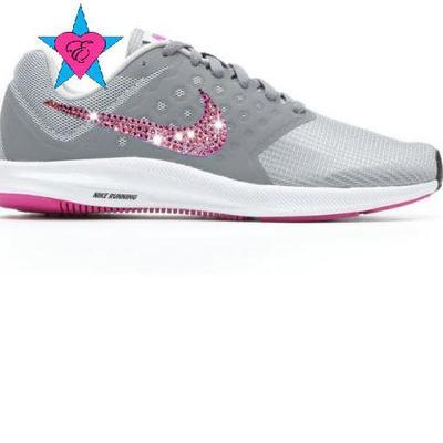 b2c8ba4e54ae ... Crystal women s gray pink violet nike downshifter 7