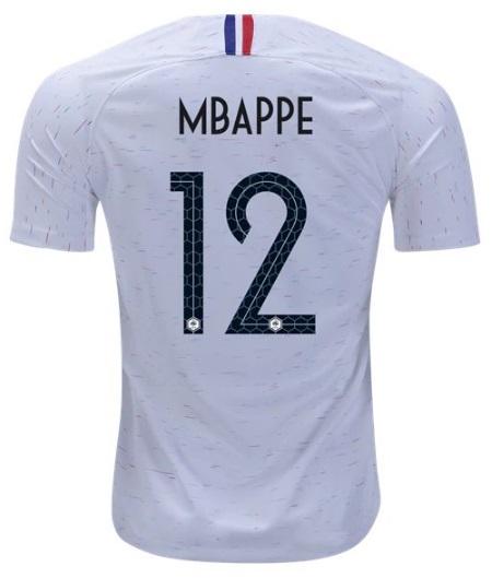 premium selection 9c555 c44d5 France Kiyan Mbappe #12 Away Soccer Jersey 2018 National Team Men's from  SportsWorld2016