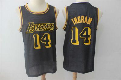 Mens Los Angeles Lakers  14 Brandon Ingram Basketball Jersey City Edition 27a9649c1