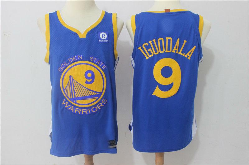best service e96b0 3d2c4 2017-18 New Season Golden State Warriors #9 Andre Iguodala Jersey Blue from  teamjerseyinc