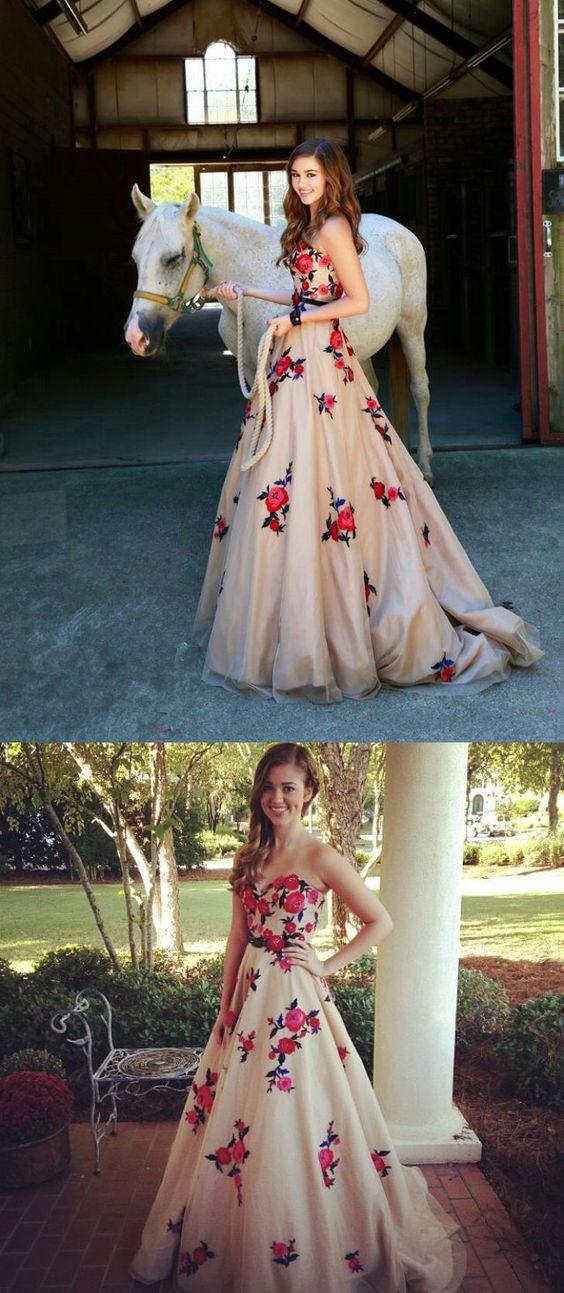 2017 prom dress, long prom dress