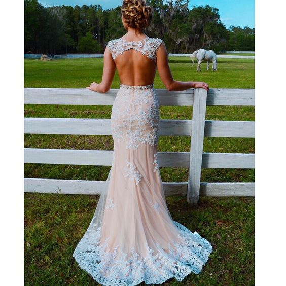 first look get new new design Backless Prom Dress Long Lace Evening Gown Mermaid open ...