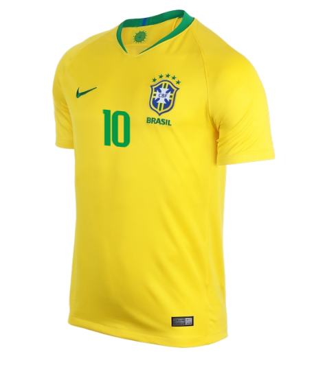 quite nice 4a025 f10fb NEYMAR JR # 10 Brasil Home World Cup 2018 Men's Soccer Jersey sold by  DominicStyle