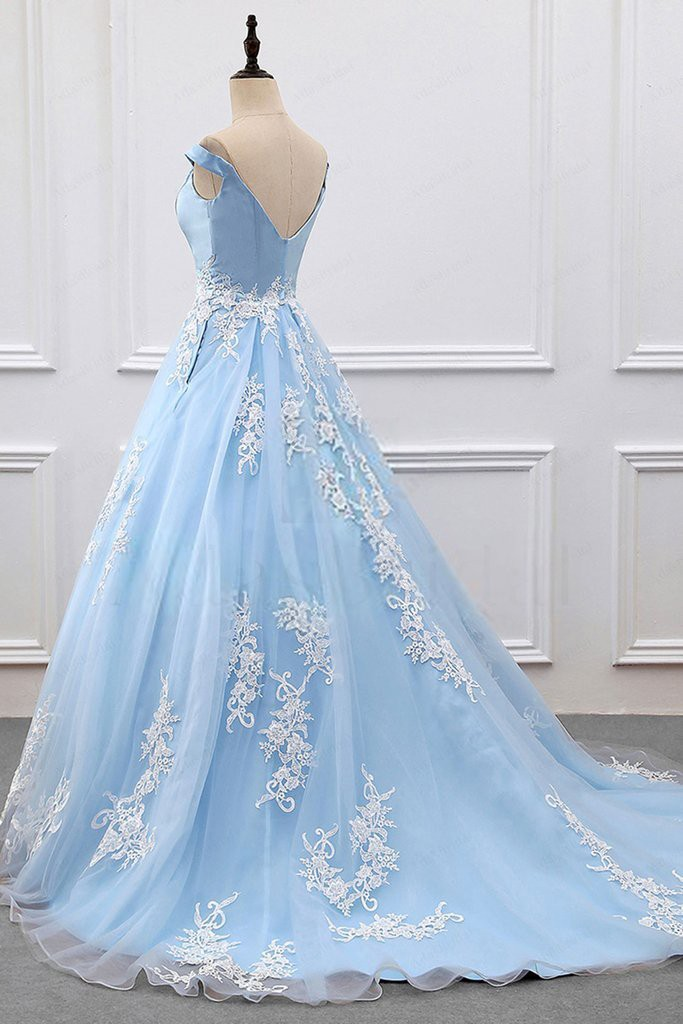 a4e37defbbd2 Customized Vogue Cheap Ball Gown Prom Dresses Ball Gown Off-the-Shoulder  Court Train