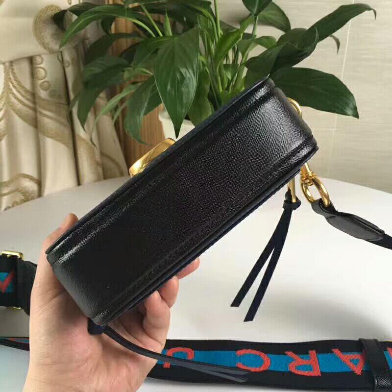 978f2ed9ce61 Marc Jacobs Snapshot Small Camera Bag Crossbody Bag Logo Strap Blue ...
