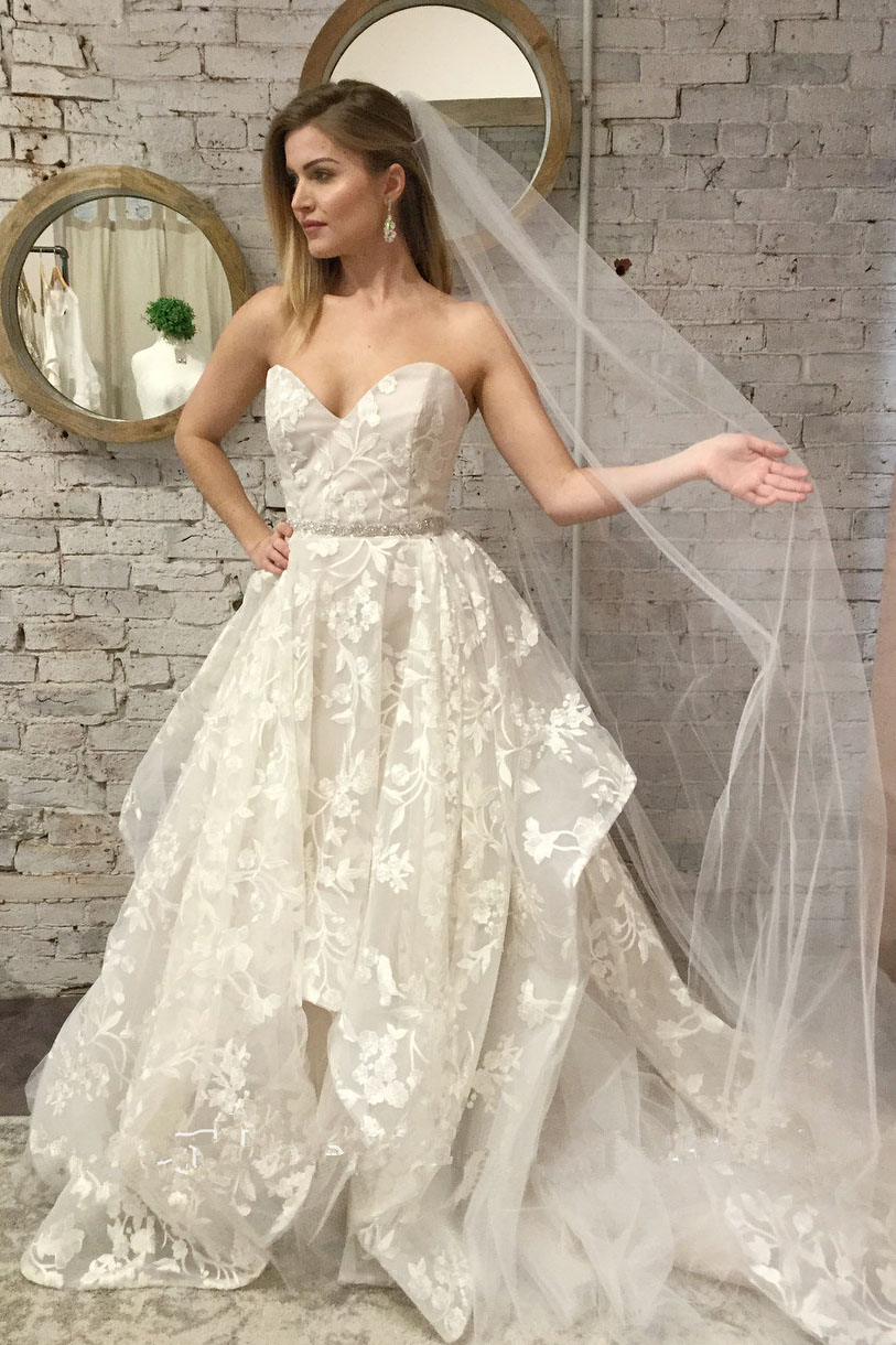 0a3cca728bb Sweetheart Ivory Lace Long Bridal Gown A-Line Wedding Dresses on Storenvy