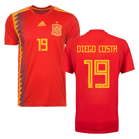 wholesale dealer 3cd73 67c24 NEW diego costa # 19 spain world cup jersey rusia 2018 Men's sold by  DominicStyle