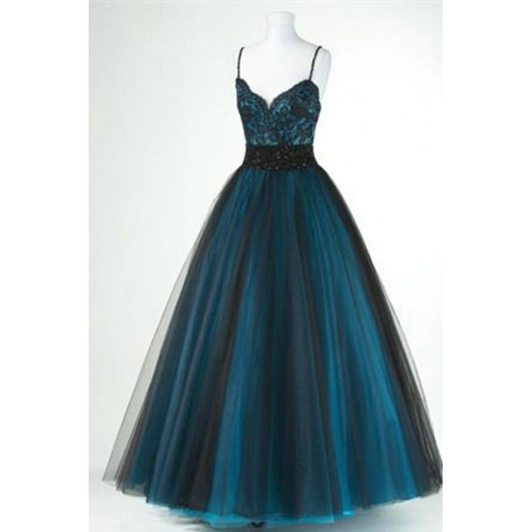 0b40ea4a1b881 Prom Dresses Black, v neck Prom Dresses, Green evening dress ,spaghetti  straps evening dress,floor length balll gowns,custom made ,new fashion on  Storenvy