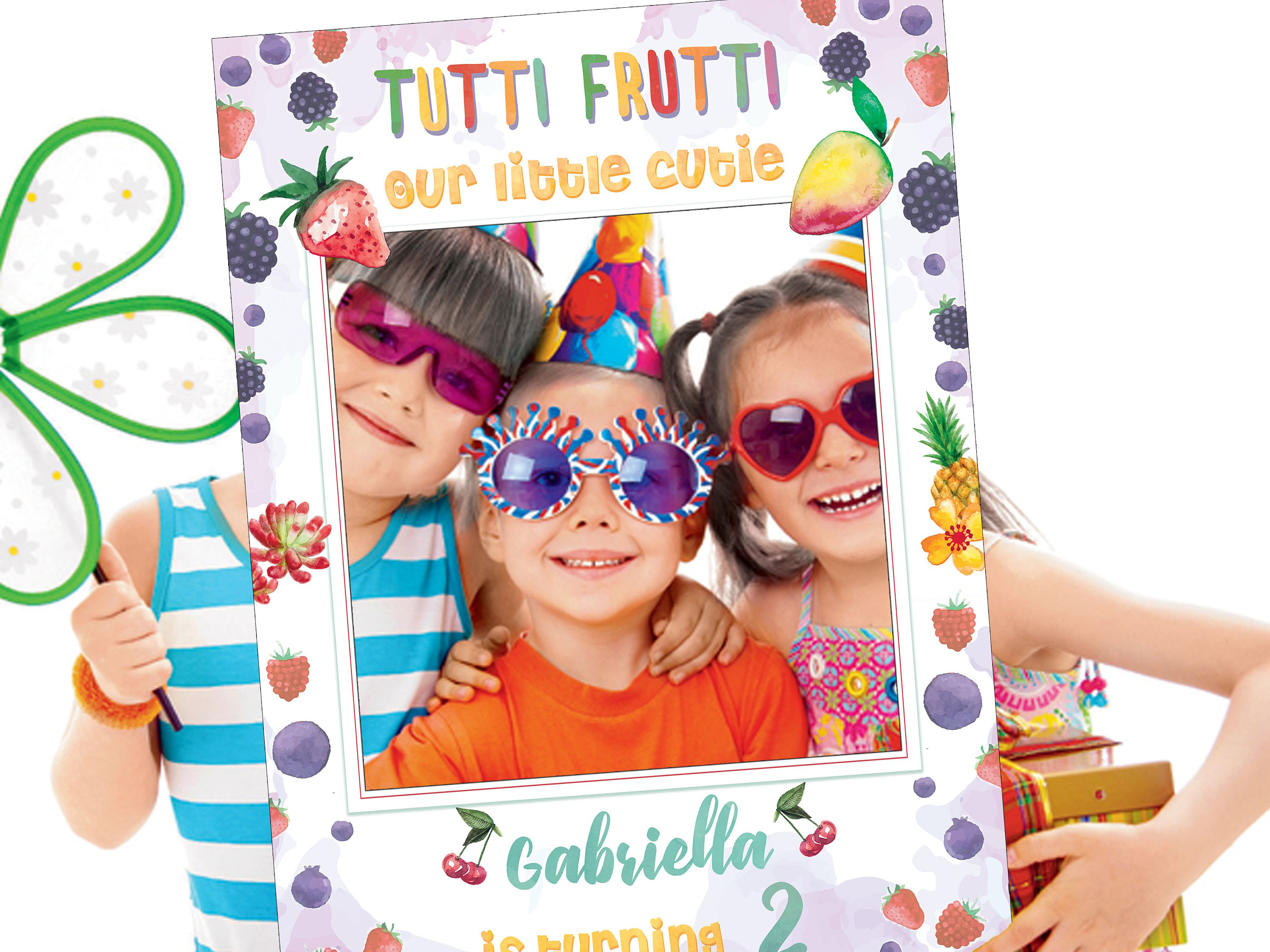 Tutti Frutti Photo Prop Tutti Frutti Birthday Fruit Theme Party Ideas