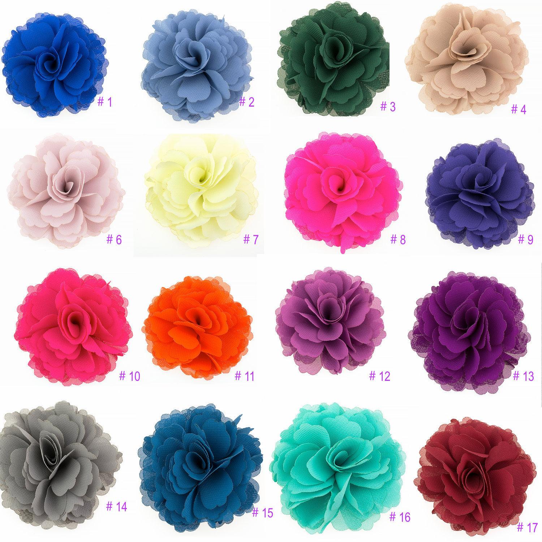 afd978f74 2 Pieces Wedding Chiffon Summer Flower Shoe Clips · White Garden ...