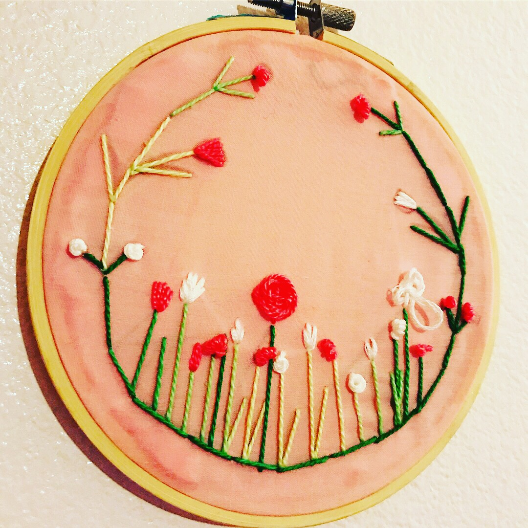 Thin Wreath Embroidery Wall Art on Storenvy