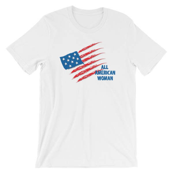 5b9f1174b3 All American Woman USA Flag 4th of July Independence Day Shirt For ...