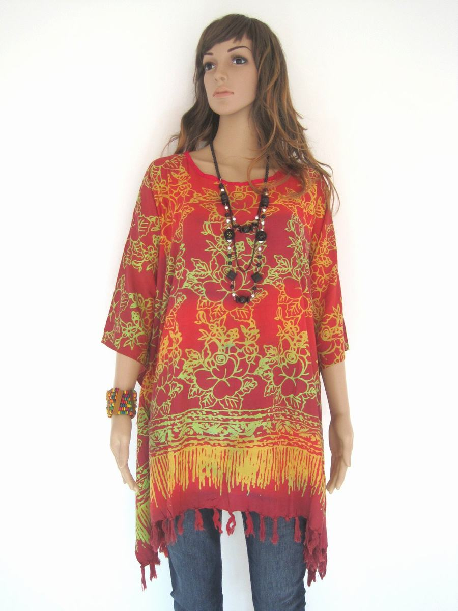 Plus Size Chilli Red, Batik Dress, Tunic Dress, Caftan Dress, Kaftan ...