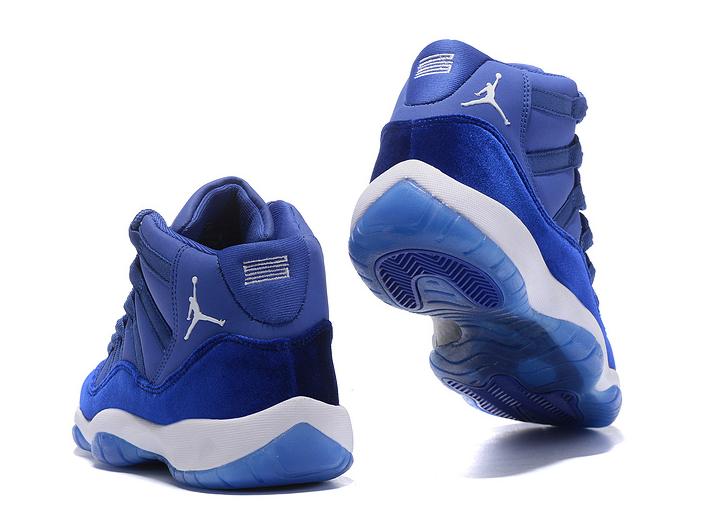 85a06b8fc1e9 ... Nike Air Jordan 11 Velvet Heiress Blue White Basketball Shoes -  Thumbnail 2 ...