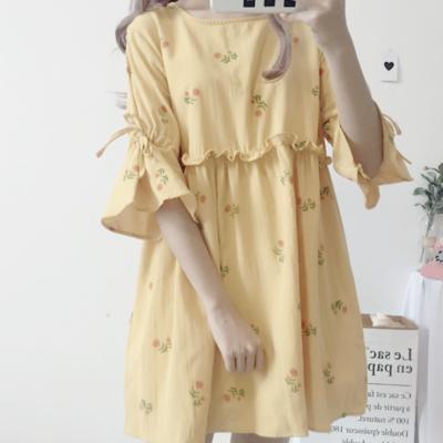 3174a6d2d9 Floral bow babydoll dress