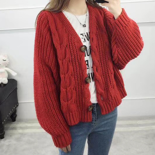 b801794786 Oversized Cable Knit Cardigan (4 Colors) · Megoosta Fashion · Free ...