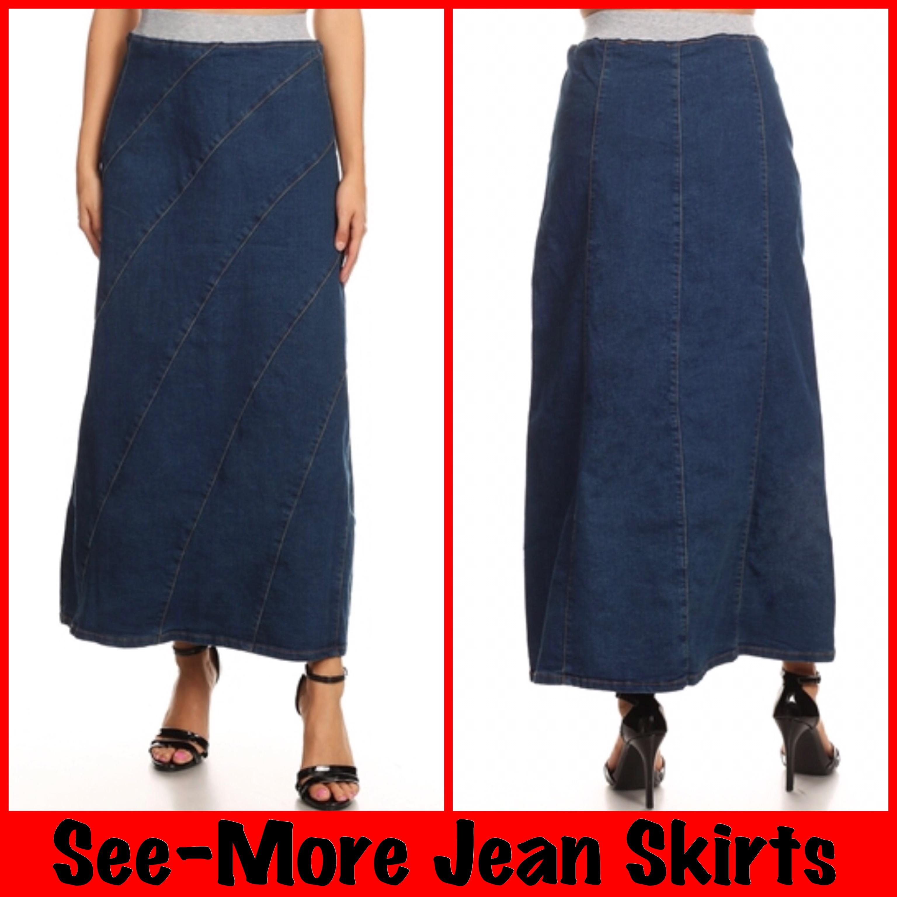 fe519e9bb0 KELSEY LONG DENIM SKIRT · See-More Jean Skirts · Online Store ...