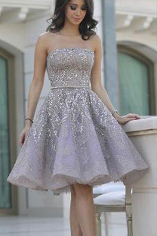 e4814be0686 Strapless Homecoming Dress