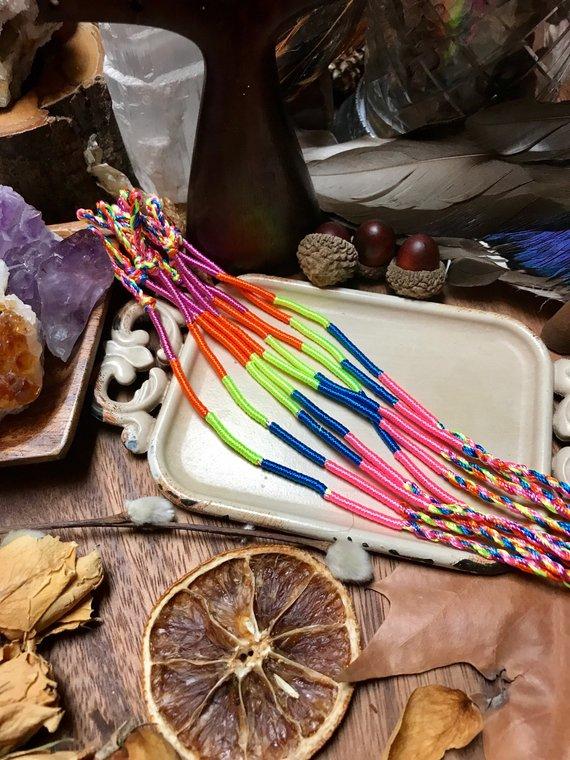 a223658462db9 SALE - 4 x Handmade Friendship Bracelets, Thread Bracelets, Girls Bracelet,  Colourful Bracelet, Little Girl's Bracelet, Teenager Bracelets