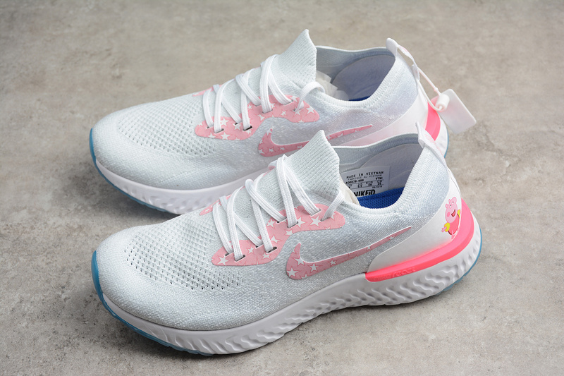 41fff87292df Nike Epic React Flyknit White Pink shoes on Storenvy