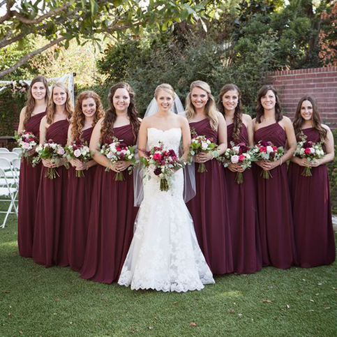 Mismatched Bridesmaid Dresses Burgundy Bridesmaid Dresses