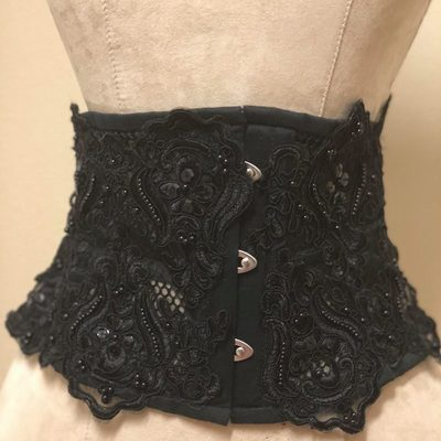 9025fb5d8bf Eighty Studs One Waist™ Belted Mini Corset.  125.00. The mini series™ noir  waspie