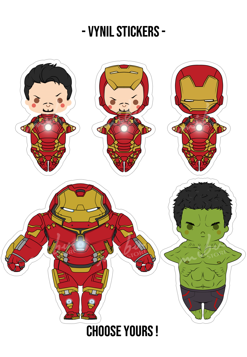 The avengers aou vinyl stickers