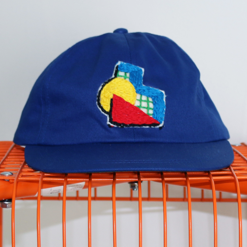 Hand Embroidered Dad Hat: 80's Abstract Geometric from BAZAAR