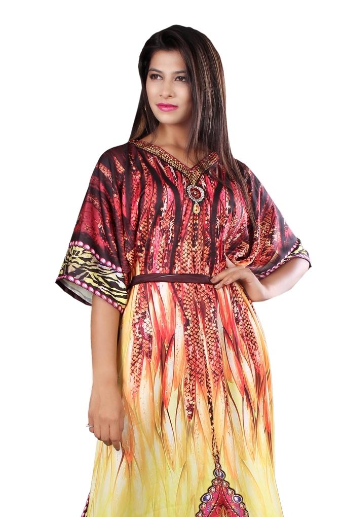 0c6062699e Silk looks and feel kaftan one piece dress on sale/jeweled/handmade ...