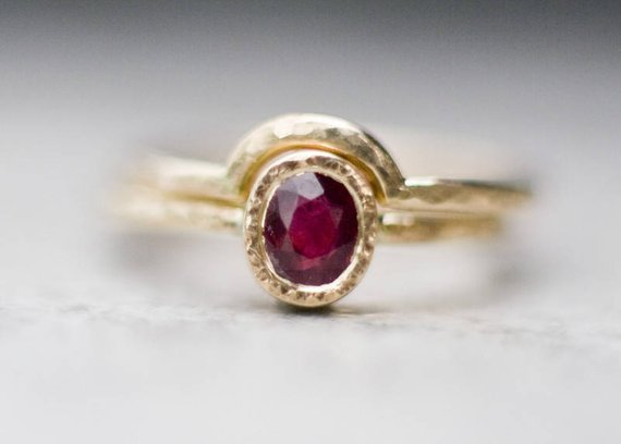 Ruby Wedding Rings.Ruby Ring Engagement Ring 14k Gold Ring Wedding Ring Gemstone Ring Wedding Ring Set Wedding Band Gold Wedding Band Bridal Jewelry From Arpelc