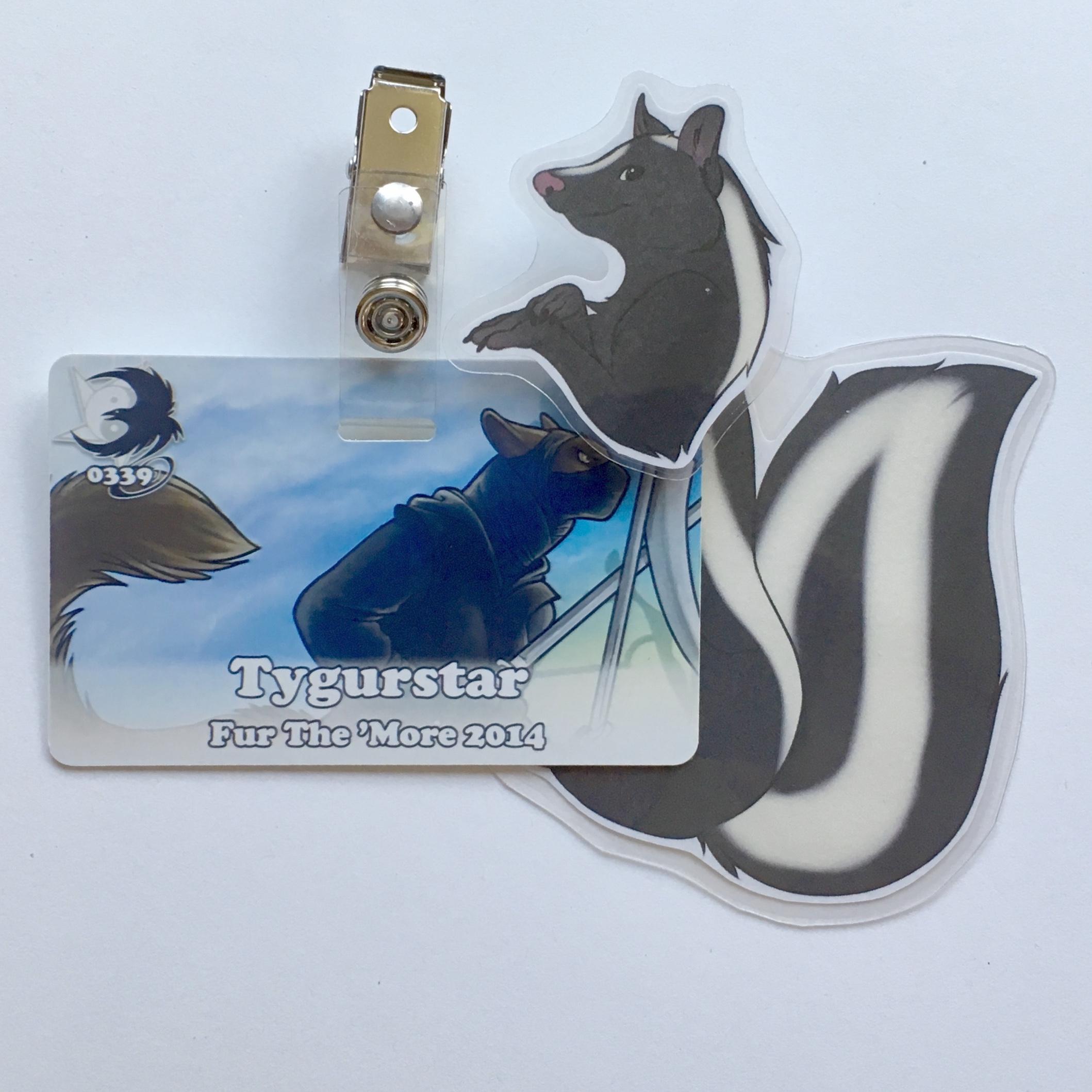 Skunk Badge Buddy from INKtiger's Shop
