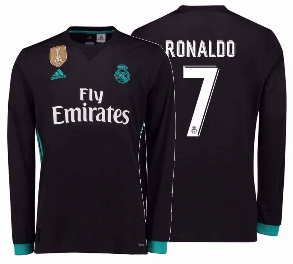 cheap for discount 006bb 4c5c7 ADIDAS CRISTIANO RONALDO REAL MADRID LONG SLEEVE AWAY JERSEY 2018/19 FIFA  PATCH from Mexibro