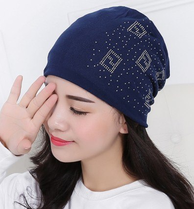 383ffee1d9aca 2018 Beanie Hats For Women Beanies Autumn And Winter Brand Knitted Hat  Turban Diamond Skullies Hip ...
