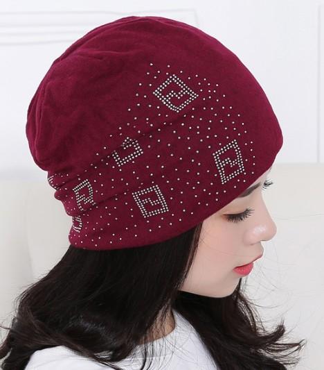 16ec9a2209f ... 2018 Beanie Hats For Women Beanies Autumn And Winter Brand Knitted Hat  Turban Diamond Skullies Hip