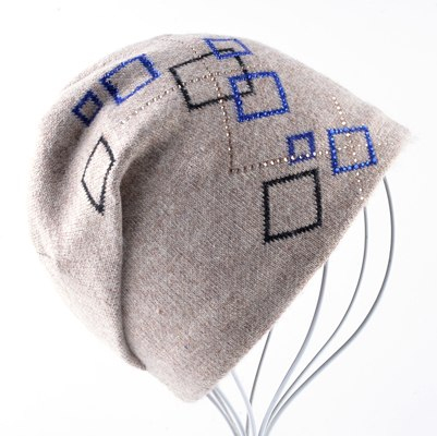 f584cf9267 ... Winter Hats For Women Warm knitted Wool Beanies Ladies New Fashion  Knitting Plaid Rhinestone Caps Female