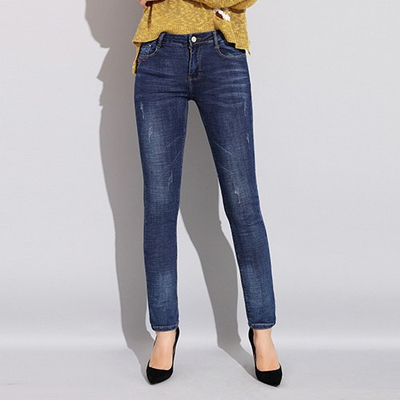 a4ad48752e 2018 autumn slim jeans for women skinny denim jeans womens high waist  elastic jean plus size