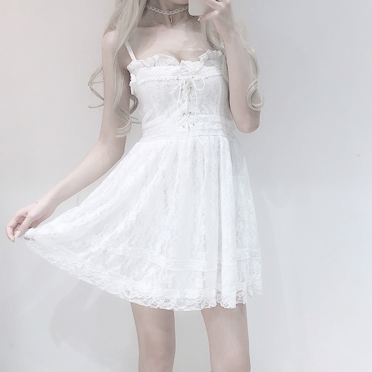 8a50fce2140 Luxury Kawaii White Lace Dress on Storenvy