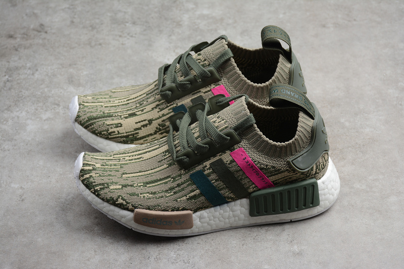 87f92aec4 Fashion Adidas NMD R1 Primeknit With Camo Pink Runner Shoes BY9864 ...