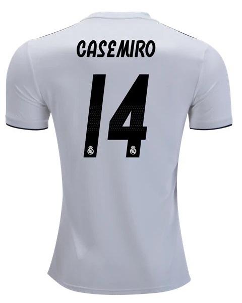 268604e4634 2018 19 Casemiro  14 Real Madrid Jersey Men Home Soccer Football Shirt White