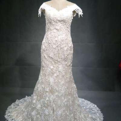 b77eae8388 #ci-ahn - cap sleeve lace bridal gown from darius customs - Thumbnail 2